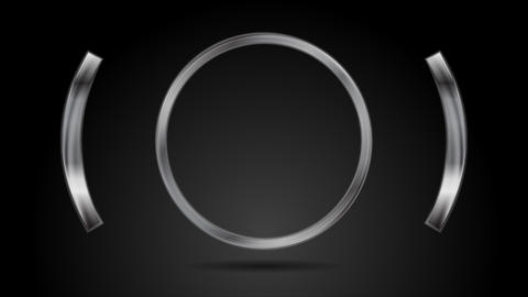 Abstract metal circle video animation Animation