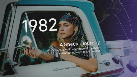 Time Machine Slideshow After Effects Template