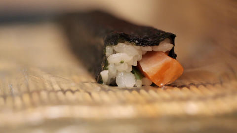 Cooking a sushi at home Footage