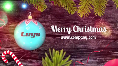 Christmas Ball Logo Reveal After Effects Template