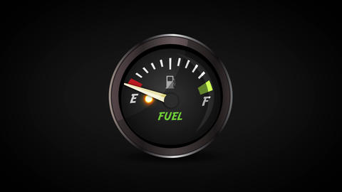 4k Empty And Full Fuel Gauge Loop Animation