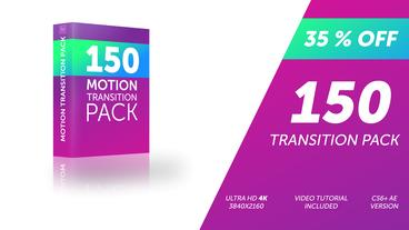 150 Motion Transition Pack After Effects Template
