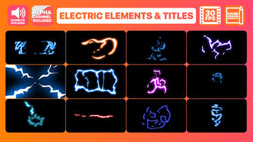 Flash FX Electric Elements Transitions And Titles After Effectsテンプレート