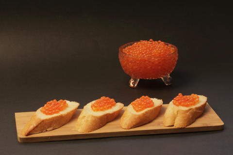 Sandwich with red caviar 001 Photo
