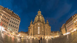 Dresden Germany time lapse 4K, city skyline day to night timelapse at Footage