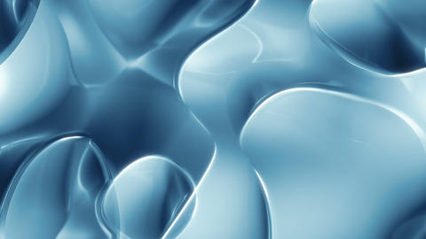 Blue Glass 1 - Flowing 3D Texture Video Background Loop Animation