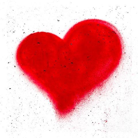 Grunge red heart フォト