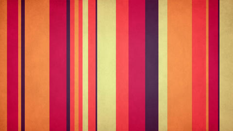 Paperlike Multicolor Stripes 50 - Warm Colored Grungy Bars Video Background Loop Animation