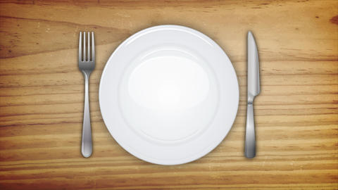 4k Dinner Invitation Background With Table Set Animation