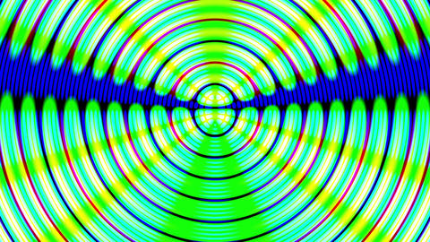 Fast Psychedelic Concentric Circles Waves Abstract Motion Background Loop Animation