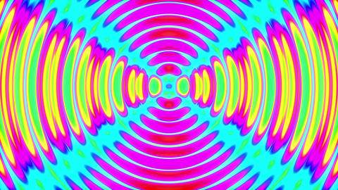 Slow Psychedelic Color Cycle Concentric Circles Abstract Motion Background Loop Animation