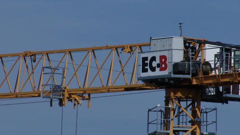 4K Construction Crane in Work Live Action