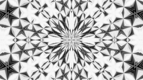 Kaleidoscope Black And White 4 - 4k Monochrome Mirror Texture Video Background Animation