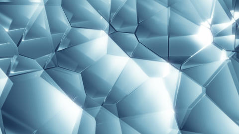 Blue Glass 5 - 4k Glass Pattern Surface Video Background Loop Animation