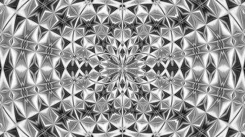 Kaleidoscope Black And White 5 - 4k Detailed Glamorous Video Background Loop Animation