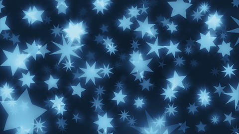 ChriStars Blue - 4k Star And Christmas Video Background Loop Animation