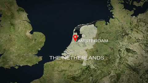 4K City Zoom: Amsterdam – The Netherlands Animation