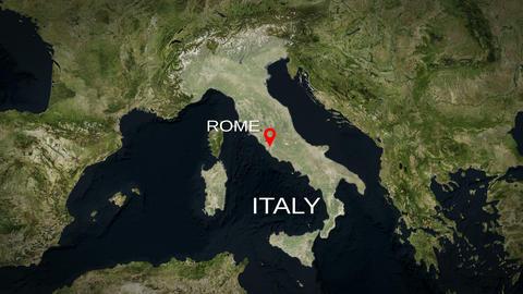 4K City Zoom: Rome – Italy Animation