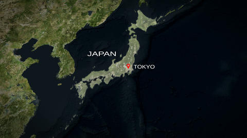 4K City Zoom: Tokyo - Japan Animation