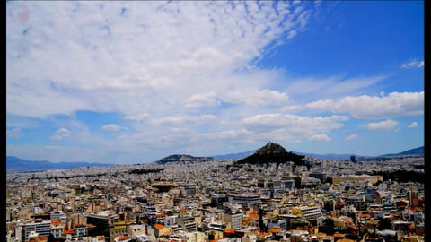 General view of Athens Greece Live Action