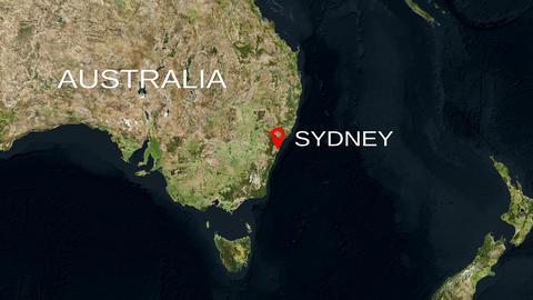 4K City Zoom: Sydney – Australia Animation