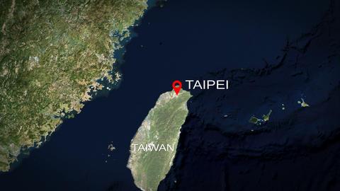 4K City Zoom: Taipei - Taiwan Animation