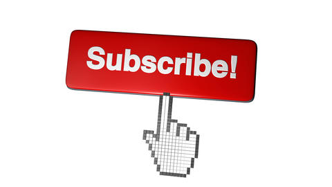Youtube subscribe. Increasing number for videos. Icon of social media's account Live Action