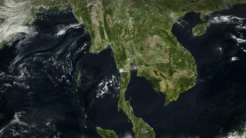 4K Satellite: South East Asia Animation