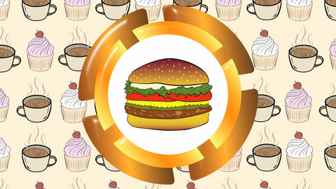 Cheeseburger and cakes Animation
