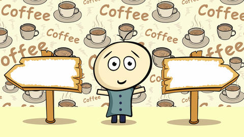 Choice and coffee background Animation