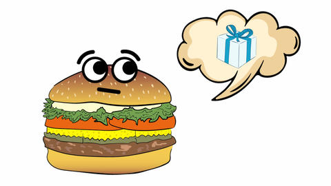 Cheeseburger dreams of a gift Animation