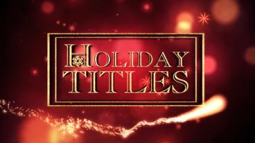 Holiday Titles After Effects Template