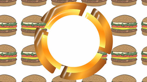 Empty icon and cheeseburgers Animation