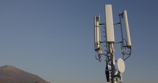 Telecommunication Tower Antenna Footage