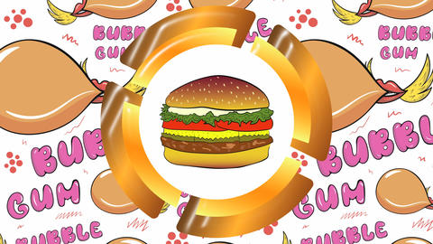 Icon cheeseburger and gums Animation