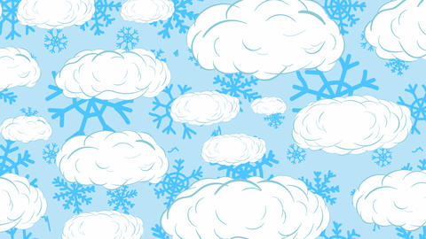 Snowflakes blue and sky Animation