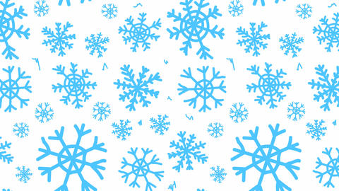 Snowflakes blue on white back Animation