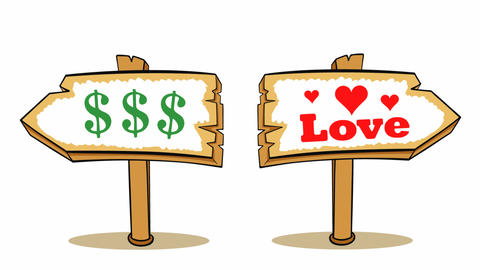 Way choise dollars or love Animation
