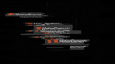 Glitch Block folder After Effects Template