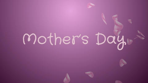 Animation Mother's day, greeting card Stock Video Footage