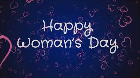 Animation Happy Woman's day, greeting card Live Action