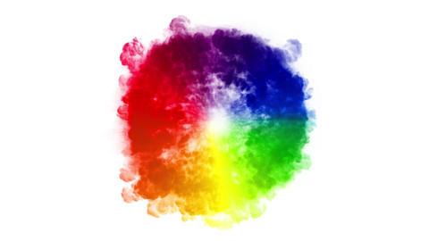 Abstract Multicolored Shockwave Smoke Background Animation