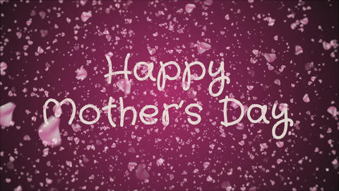 Animation Happy Mother's day, greeting card Live Action