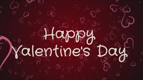Animation Happy Valentine's day, greeting card Live Action