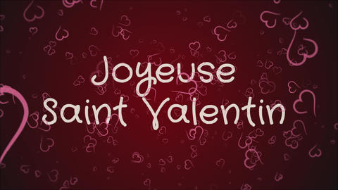 Animation Joyeuse Saint Valentin, Happy Valentine's day in french language Live Action