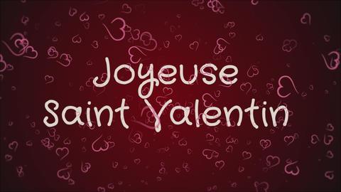 Animation Joyeuse Saint Valentin, Happy Valentine's day... Stock Video Footage