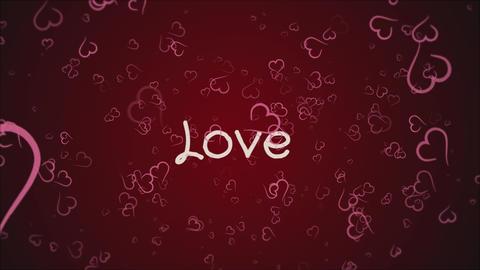 Animation Love, greeting card Footage