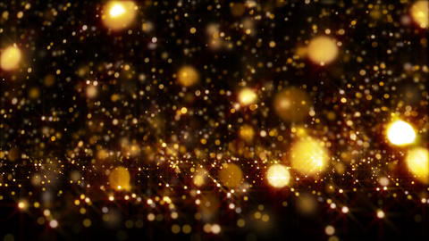 Golden Glitter Particle Background Animation Loop Bouncing Animation