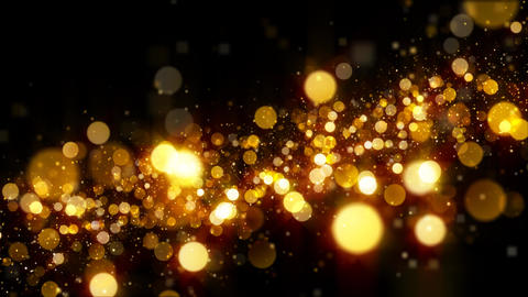 Golden Glitter Particle Background Animation Loop Diagonal Upward GIF
