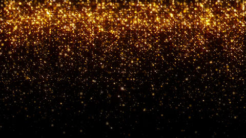 Golden Glitter Particle Background Animation Loop Falling Gravity GIF